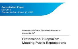مشورت خواهی جهانی هیئت استانداردهای بین المللی اخلاق حرفه ای درخصوص تردید حرفه ای